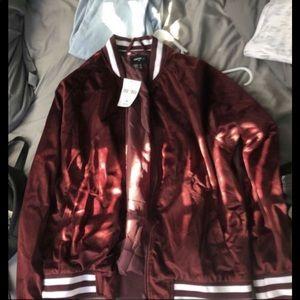 forever 21 burgundy jacket